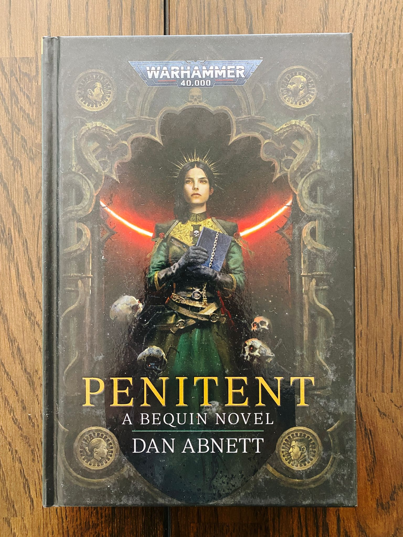 """A photo of Dan Abnett's Warhammer 40,000 novel """"Penitent"""" that was just released this month."""