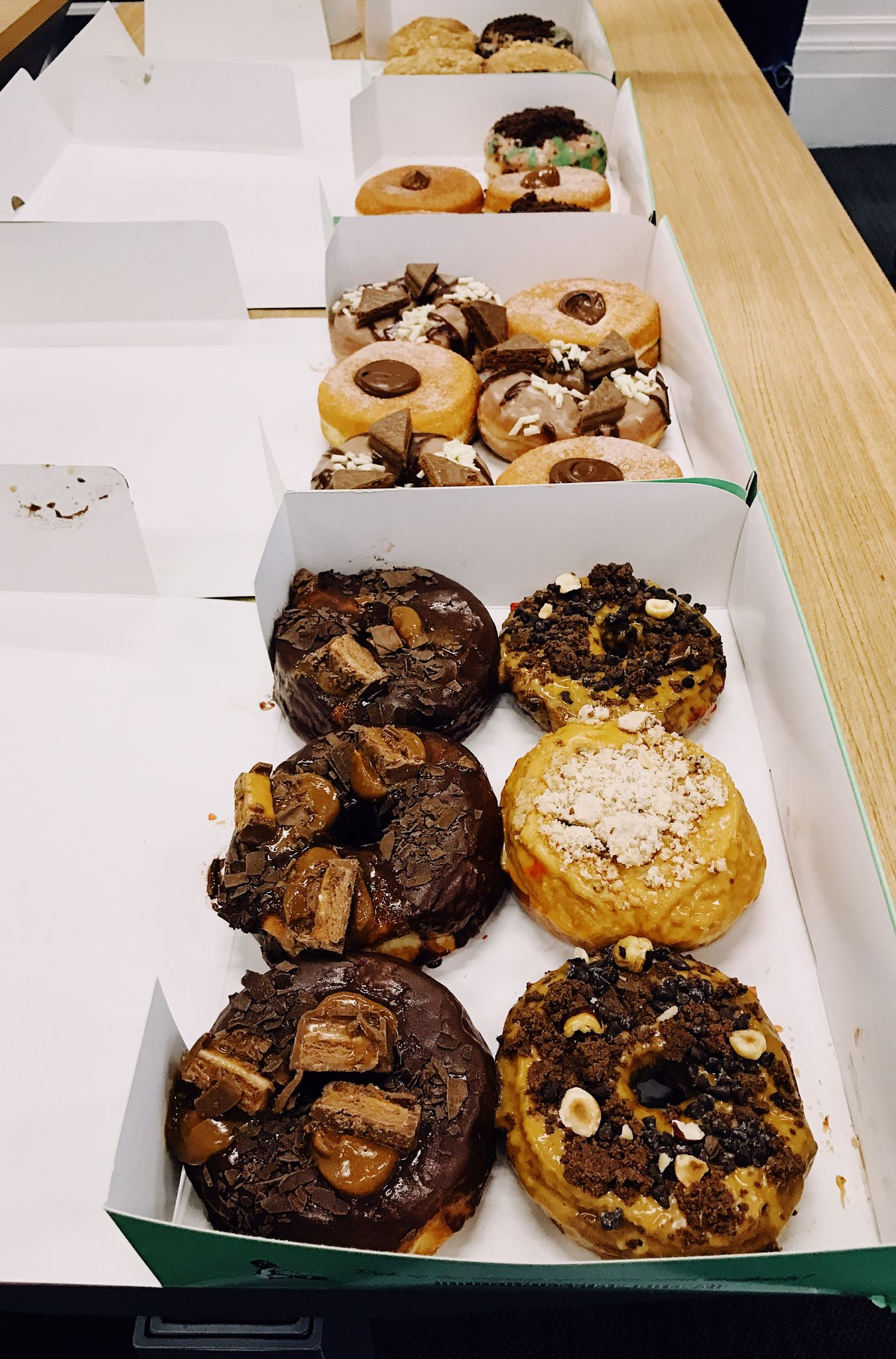 A co-worker hit 10 years here so we're having celebratory doughnuts. \o/