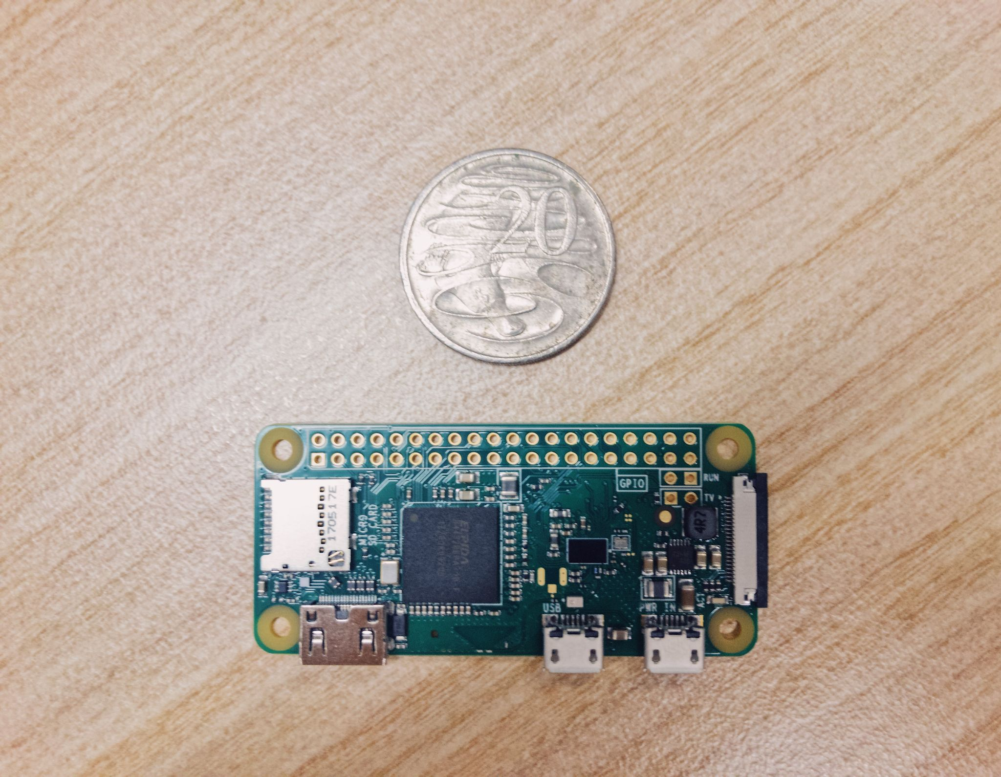 My Raspberry Pi Zero W arrived, and it is ABSURDLY small.