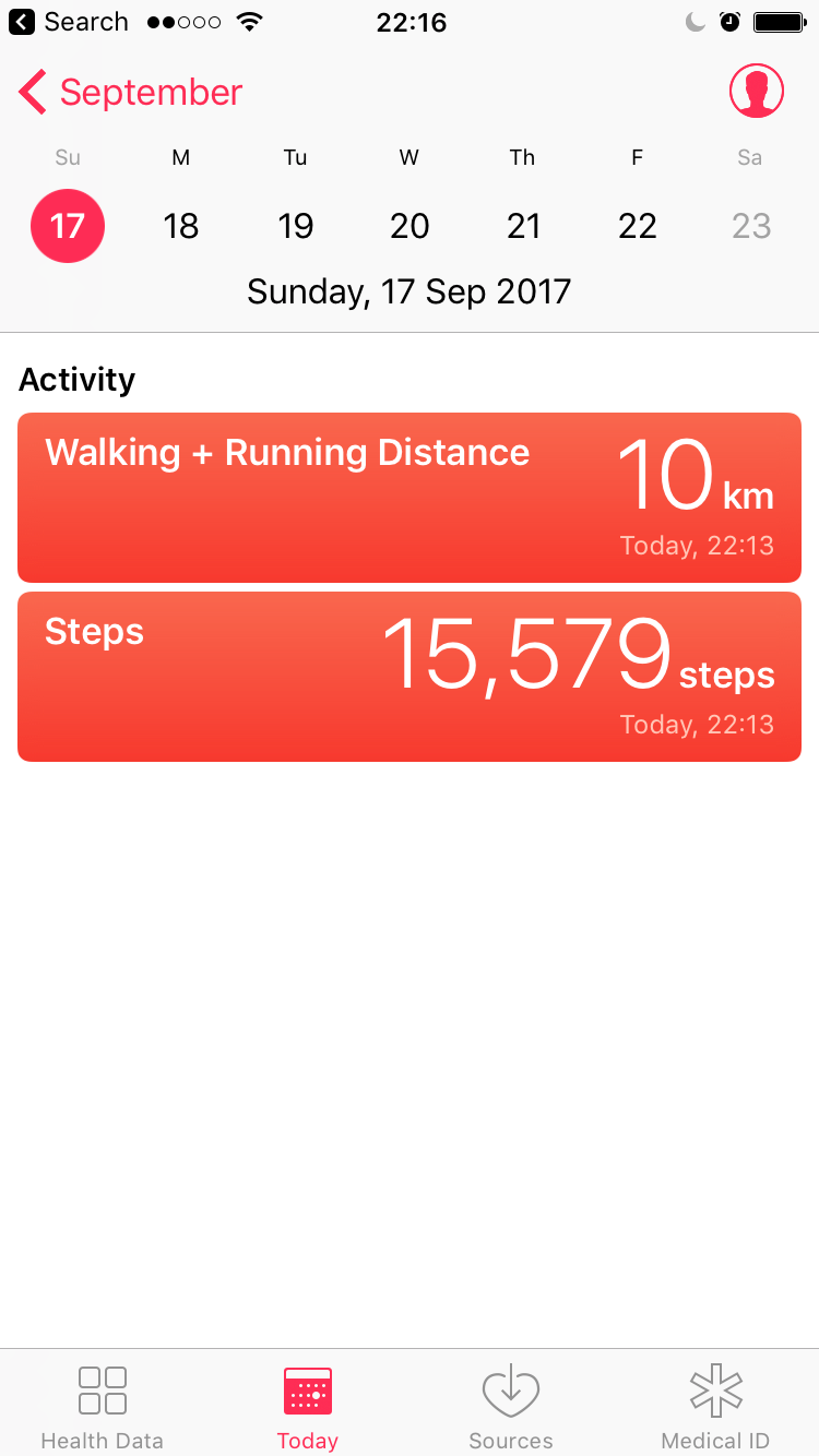 We did just a little bit of walking today.