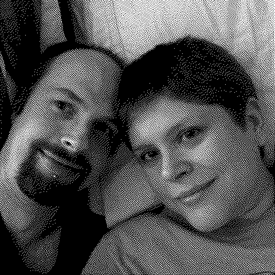 "Pre-sleep BitCam selfie of <a href=""https://twitter.com/yayKM"" class=""linkified"">@yayKM</a> and me. (I love that we have all this amazing technology and I'm enjoying taking photos that look like they're from the System 7 era in the mid-90s)."